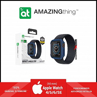 AmazingThing Impact Shield Pro for Apple Watch for Series SE / 6 / 5 / 4 ( 44mm) - Anti Bacterial proctective case with screen protector - Alaskan Blue (Barcode: 4892878064101 )