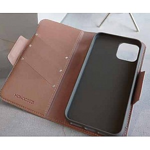 Monocozzi Lucid Folio Wallet for iPhone 11 Pro - with Detachable Back - Coral (Barcode: 4895199105508 )