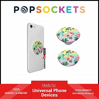 PopSockets Swappable PopGrip Graphics - Chrome Flora (Barcode: 842978139159)