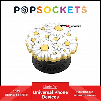 PopSockets Swappable PopGrip Premium White Posies Popouts ( Barcode : 842978186245 )