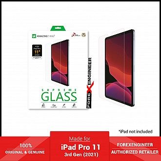 """AMAZINGthing Supreme Glass for iPad Pro 11"""" / 3rd Gen ( 2021 ) - Ultra Clear (Barcode: 4892878066013 )"""