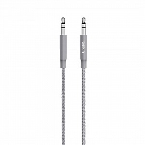 Belkin MIXIT Metallic AUX Cable ( 1.2m ) Audio Cable - Gray (Barcode: 745883682164 )