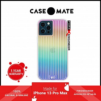 """Case-Mate Tough Groove for iPhone 13 Pro Max 6.7"""" 5G with Antimicrobial - Iridescent (Barcode: 840171708769 )"""