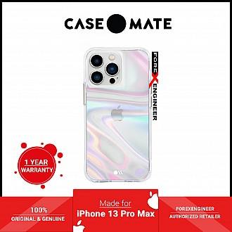 """Case-Mate Soap Bubble for iPhone 13 Pro Max 6.7"""" 5G with Antimicrobial  - Iridescent (Barcode: 840171705980 )"""
