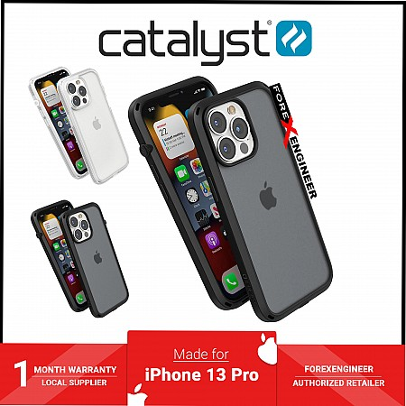 """Catalyst Influence for iPhone 13 Pro 6.1"""" 5G - 10ft Drop Proof - Stealth Black (Barcode: 840625111756 )"""
