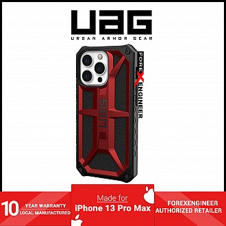 """UAG Monarch for iPhone 13 Pro Max 5G 6.7"""" - Crimson  (Barcode: 810070363789 )"""