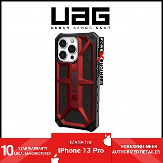 """UAG Monarch for iPhone 13 Pro 5G 6.1"""" - Crimson (Barcode: 810070362935)"""