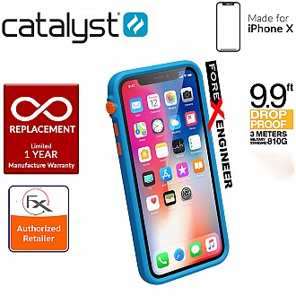 Catalyst Impact Protection Case for iPhone X / Xs - Heavy Duty Drop Proof (3 meters) with Slim Design - Blueridge/Sunset