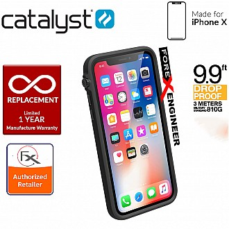 Catalyst Impact Protection Case for iPhone X / Xs - Heavy Duty Drop Proof (3 meters) with Slim Design - Stealth Black