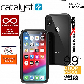 Catalyst Impact Protection Case for iPhone XR - Heavy Duty Drop Proof (3 meters) with Slim Design - Stealth Black