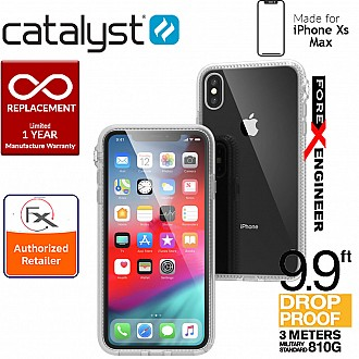 Catalyst Impact Protection Case for iPhone Xs Max - Heavy Duty Drop Proof (3 meters) with Slim Design - Clear