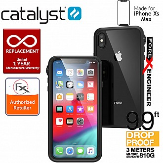 Catalyst Impact Protection Case for iPhone Xs Max - Heavy Duty Drop Proof (3 meters) with Slim Design -Stealth Black