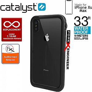 Catalyst Waterproof Case for iPhone Xs Max - 10 meters deep with 2 meter drop protection - Stealth Black