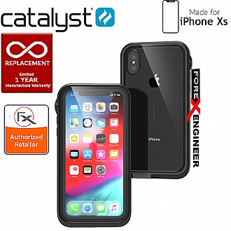 Catalyst Waterproof Case for iPhone Xs - 10 meters deep with 2 meter drop protection - Stealth Black