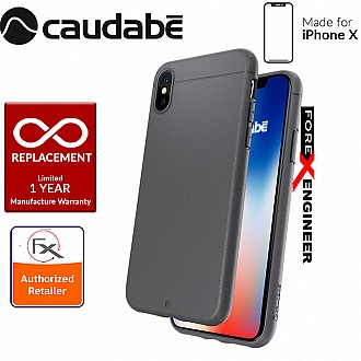 Caudabe the Sheath for iPhone X Premium Ultra Thin Case - Classic Gray