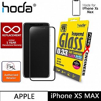 Hoda Tempered Glass for iPhone Xs MAX - 2.5D 0.33mm Full Coverage Screen Protector - Clear