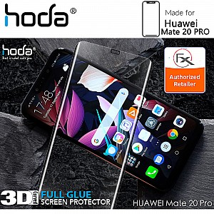 Hoda Tempered Glass for Huawei Mate 20 PRO - 3D UV FULL GLUE (Revised Glue Formula) Screen Protector ( UV Lamp NOT included ) - Clear