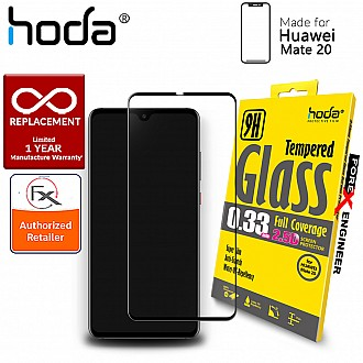 Hoda Tempered Glass for Huawei Mate 20 - 2.5D 0.33mm Full Coverage Screen Protector - Black