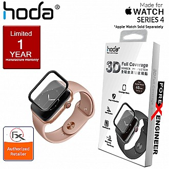 HODA Screen Protector for Apple Watch Series 4 ( 40mm ) - 3D Full Coverage Tempered Glass  - Black