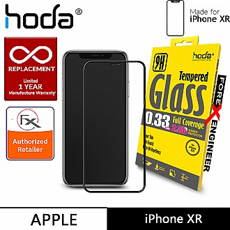 Hoda Tempered Glass for iPhone XR - 2.5D 0.33mm Full Coverage Screen Protector - Black