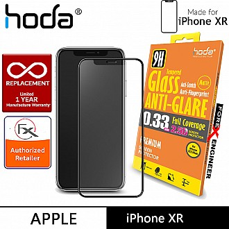 Hoda Tempered Glass for iPhone XR - 2.5D 0.33mm Full Coverage Anti-Glare Screen Protector - Matte