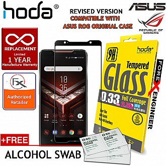 Hoda Tempered Glass for ASUS ROG Phone - 2.5D 0.33mm Screen Protector - Black - Fit Original Asus Case (Revised Version)