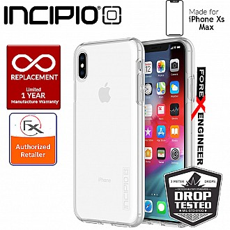 Incipio DualPro for iPhone Xs Max - 10 feet Superior Drop Protection - Clear