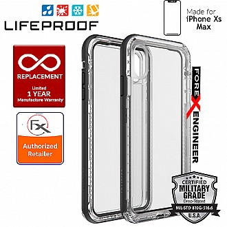 Lifeproof NEXT for iPhone Xs MAX - Drop Proof, Dirt Proof, Snow Proof Case - Black Crystal