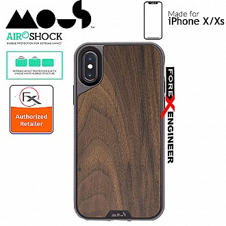 MOUS LIMITLESS 2.0 Case for iPhone X / Xs - AiroShock extremely shockproof protective - Walnut