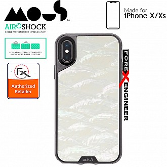 MOUS LIMITLESS 2.0 Case for iPhone XS (Compatible with iPhone X) - AiroShock extremely shockproof protective - White Shell