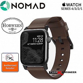 Nomad Modern Leather Strap Apple Watch Series SE / 6 / 4 / 3 / 2 / 1 - 42mm / 44mm - Black Hardware