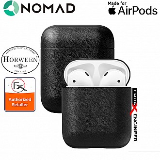 Nomad Rugged Case for AirPods - Genuine Premium Horween Leather from USA - Black