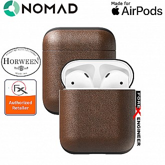 Nomad Rugged Case for AirPods - Genuine Premium Horween Leather from USA - Rustic Brown