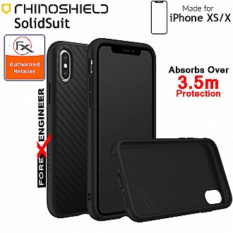 Rhinoshield SolidSuit for iPhone XS (Compatible with iPhone X) - 3.5 Meters Drop Protection - Carbon Fiber color (Barcode: 4710227231625)