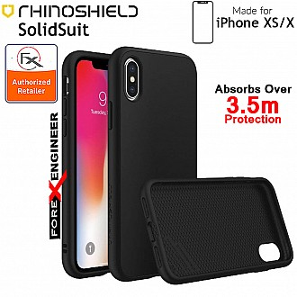 Rhinoshield SolidSuit for iPhone XS (Compatible with iPhone X) - 3.5 Meters Drop Protection - Classic Black color (Barcode: 4710227231632)