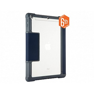 STM Dux Plus case for iPad 9.7 inch ( 5th & 6th Gen ) with Apple Pencil Storage - Midnight Blue color