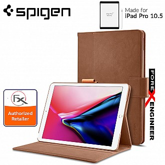 "Spigen Stand Folio Case for iPad PRO 10.5"" ( 2017 ) - Premium synthetic leather - Brown color"