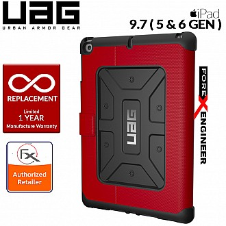 UAG Metropolis for iPad 9.7 inch (2017 5th Gen & 2018 6th Gen) Feather-Light Rugged - Military Drop Tested iPad Case - Magma