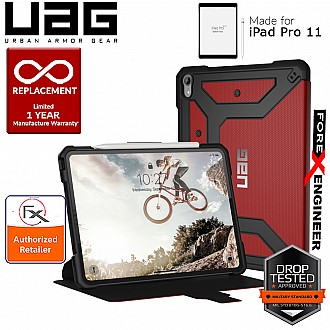 UAG Metropolis for iPad Pro 11 inch Rugged Military Drop Tested iPad Case - Magma