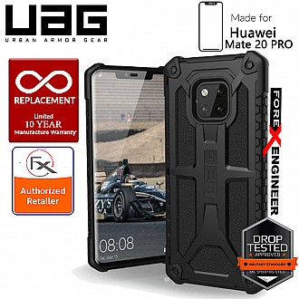UAG Monarch for Huawei Mate 20 Pro - Feather-Light Rugged Military Drop Tested - Black color