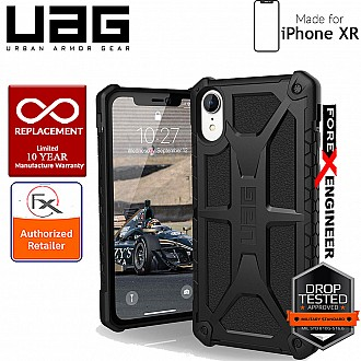 UAG Monarch for iPhone XR Feather-Light Rugged & Military Drop Tested - Black color