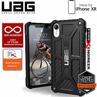 UAG Monarch for iPhone XR Feather-Light Rugged & Military Drop Tested - Carbon Fiber color