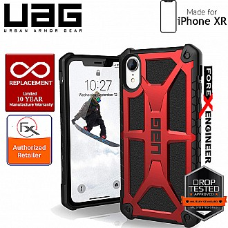 UAG Monarch for iPhone XR Feather-Light Rugged & Military Drop Tested - Crimson color