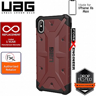 UAG Pathfinder for iPhone Xs Max Feather-Light Rugged & Military Drop Tested - Carmine color