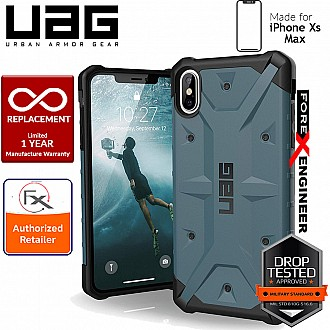 UAG Pathfinder for iPhone Xs Max Feather-Light Rugged & Military Drop Tested - Slate color
