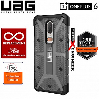 UAG Plasma for OnePlus 6 - Feather-Light Rugged Military Drop Tested Phone Case - Ash Color