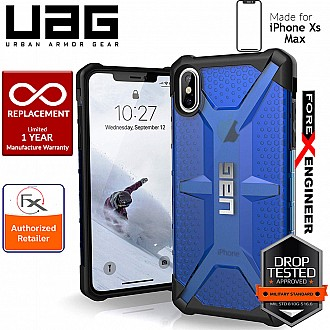 UAG Plasma for iPhone Xs Max Feather-Light Rugged & Military Drop Tested - Cobalt color