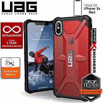 UAG Plasma for iPhone Xs Max Feather-Light Rugged & Military Drop Tested - Magma color