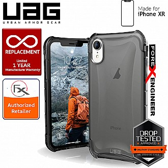 UAG Plyo for iPhone XR Feather-Light Rugged & Military Drop Tested - Ash color