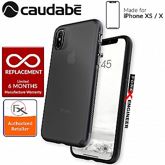 Caudabe The Synthesis for iPhone X / XS Premium Ultra Thin with Protection Case - Stealth Black color